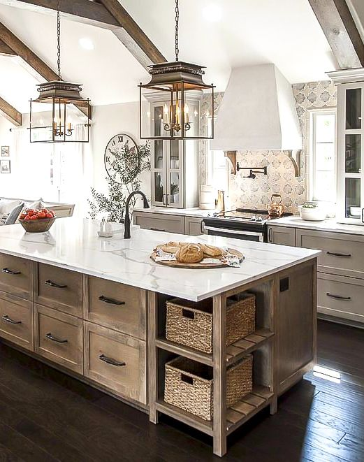 37 Beautiful Farmhouse Interior Designs You Ll Swoon For Society Letters Farmhouse Kitchen Design Rustic Farmhouse Kitchen Home Decor Kitchen