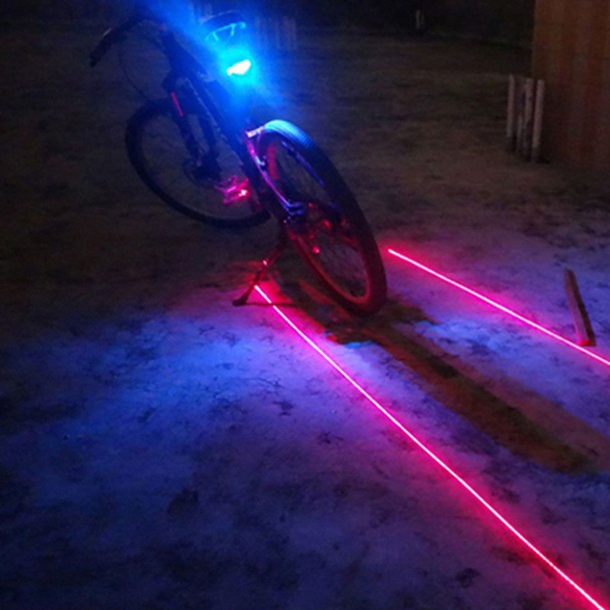 Led Licht 2 Laser 5 Led Rear Cycling Bicycle Bike Tail Safety Warning