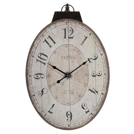 Keep Track Of The Hour In Style With This Antiqued Wall