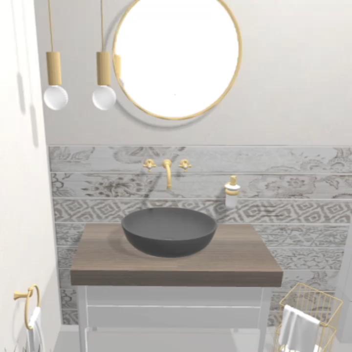 Photo of So gestalten wir | Das flexible Bad mit großen, runden Spiegel | 6 qm | Gästebadezimmer mit Dusche