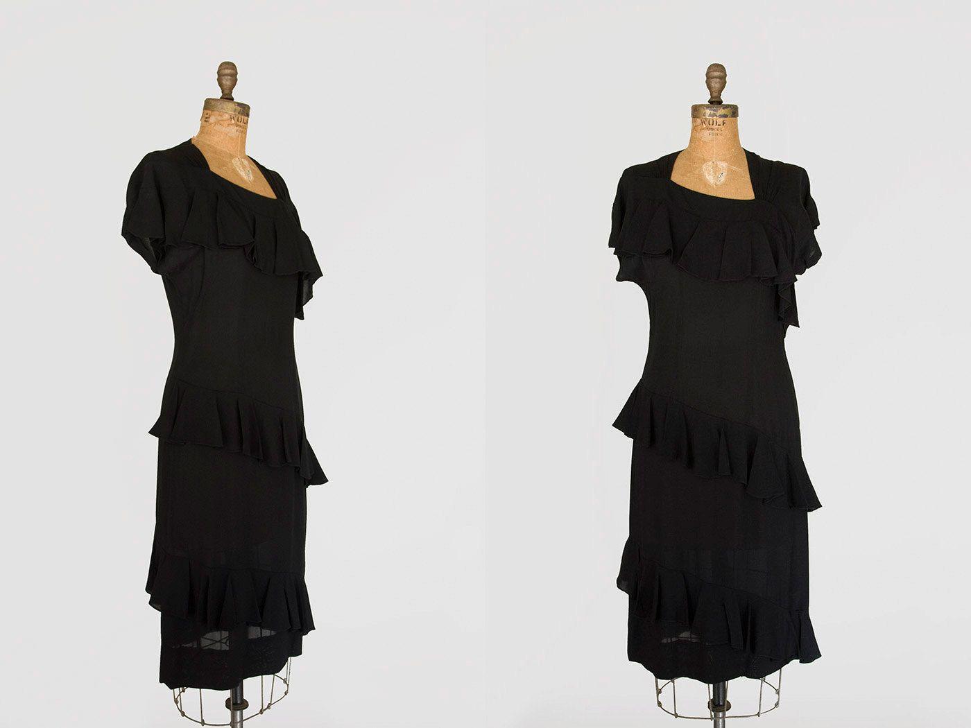 S dress s dress black rayon crepe cocktail dress s