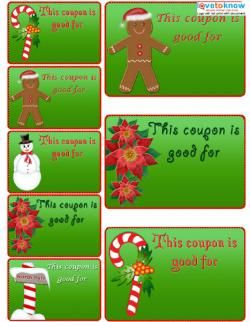Free Homemade Coupon Templates And Ideas  Christmas
