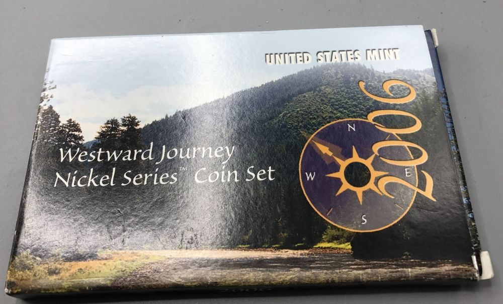 United States Min Westward Journey Nickel Series Coin Set 2006 COA