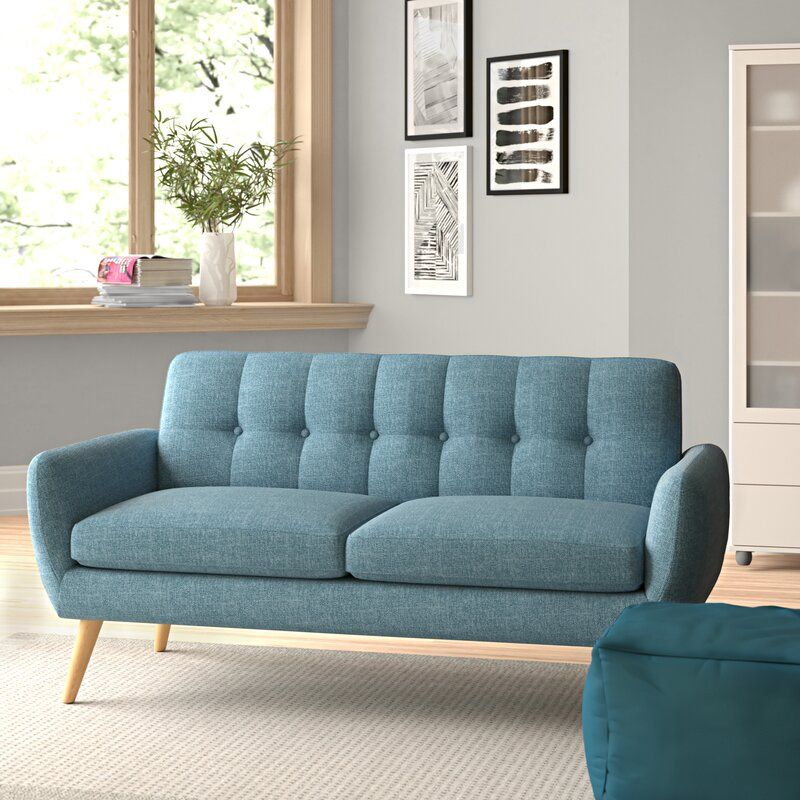 Erinn 67 Flared Arms Loveseat In 2020 Love Seat Furniture Modern Sofa Bed