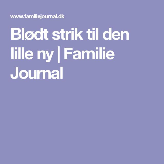 Blødt strik til den lille ny   Familie Journal