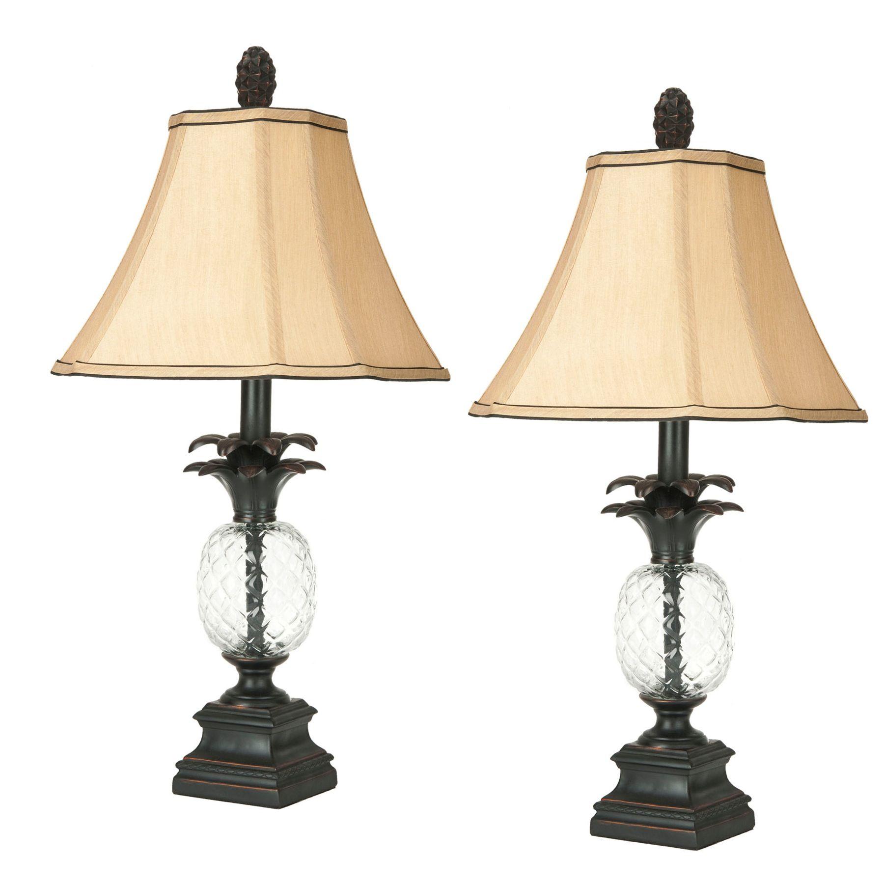 Safavieh Alanna Glass Pineapple Lamp Clear Pineapple Lamp