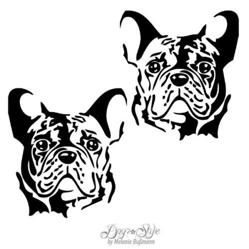 2-Auto-Aufkleber-Folie-Franzoesische-Bulldogge-D222-Hund-Sticker-Groesse-Farbwahl