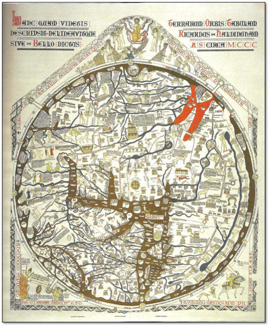 226 TITLE The Hereford Mappamundi DATE ca 1290 AD AUTHOR