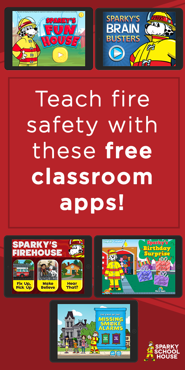 Add these free Sparky the Fire Dog apps to your classroom
