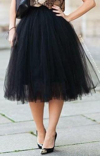 fe4a0da1dc saia midi tule média bailarina fashion ano 50 moda tendencia ...