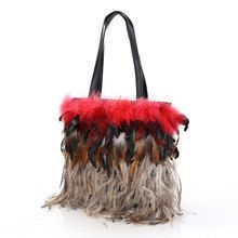 1 Winter Fashion Shoulder Bag Patchwork di peopleartmyself su Etsy