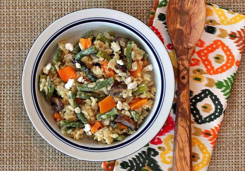 APPLE A DAY: Meatless Monday--Champagne Risotto with Asparagus, Green Beans, and Peppers