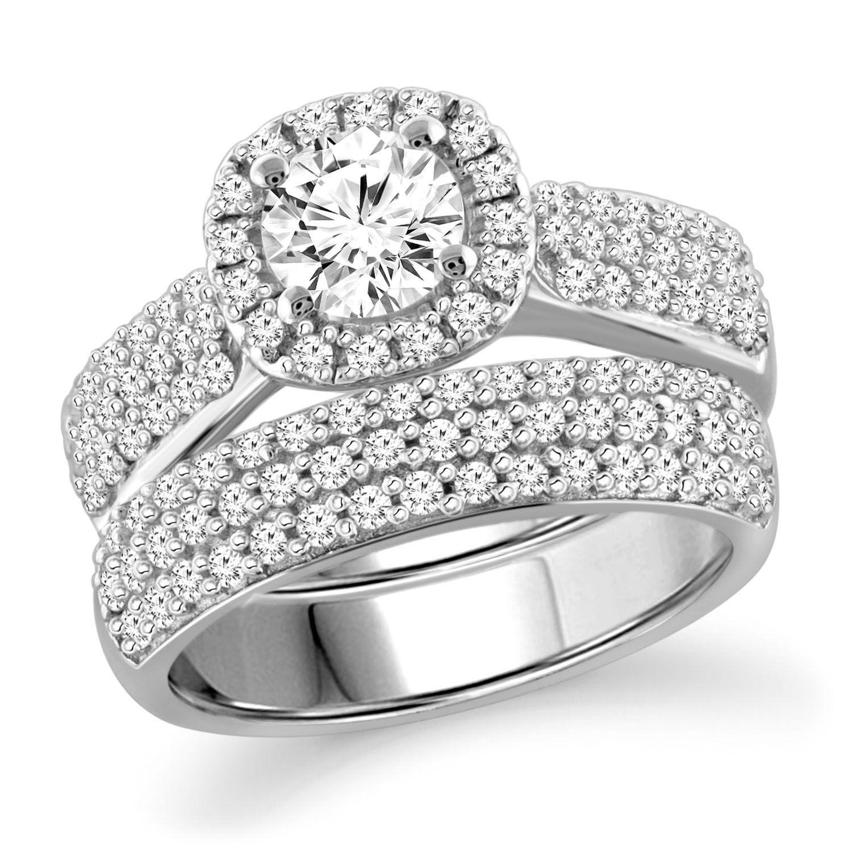 2.25 CT. T.W. White Diamond Engagement Ring in 14K White