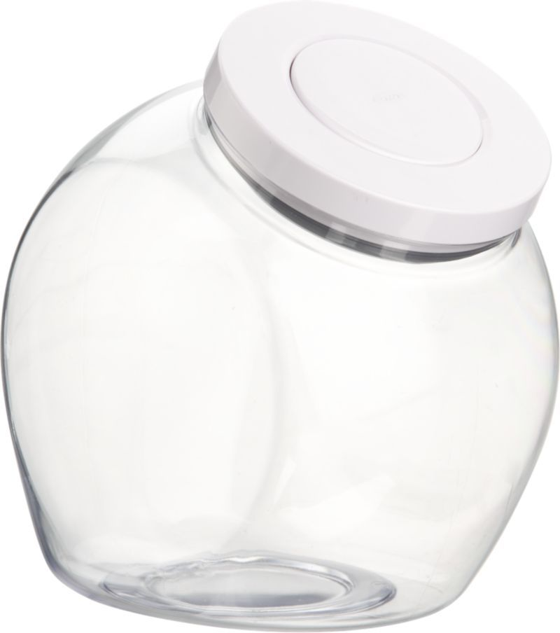OXO® Pop Round 3 qt. Jar with Lid in Food Containers, Storage | Crate and Barrel. Great to put candy in.