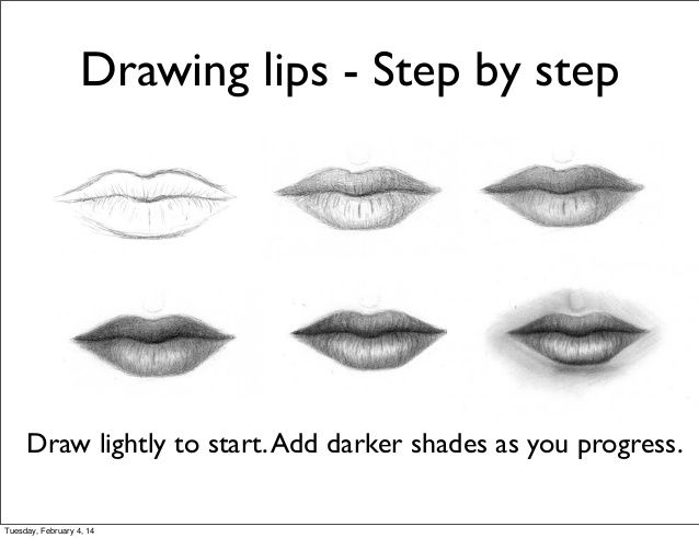 How To Draw Lips Step By Step With Pencil Easy