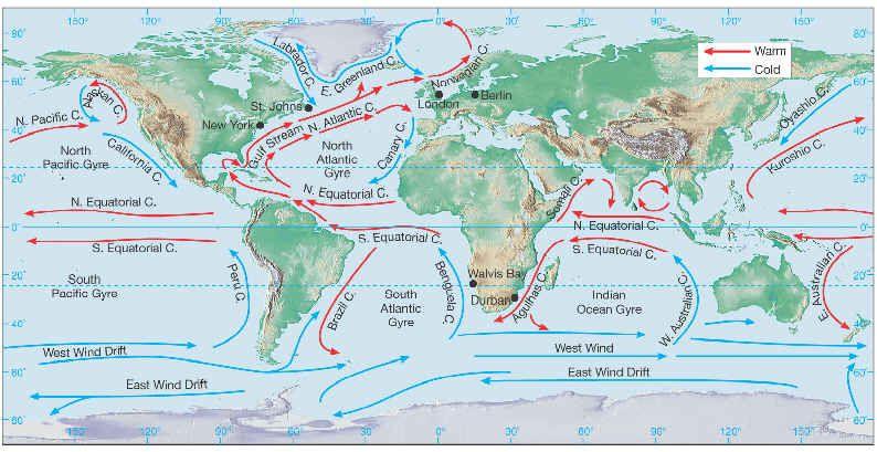 ocean.currents in 2019 | Ocean currents map, Ocean current ...