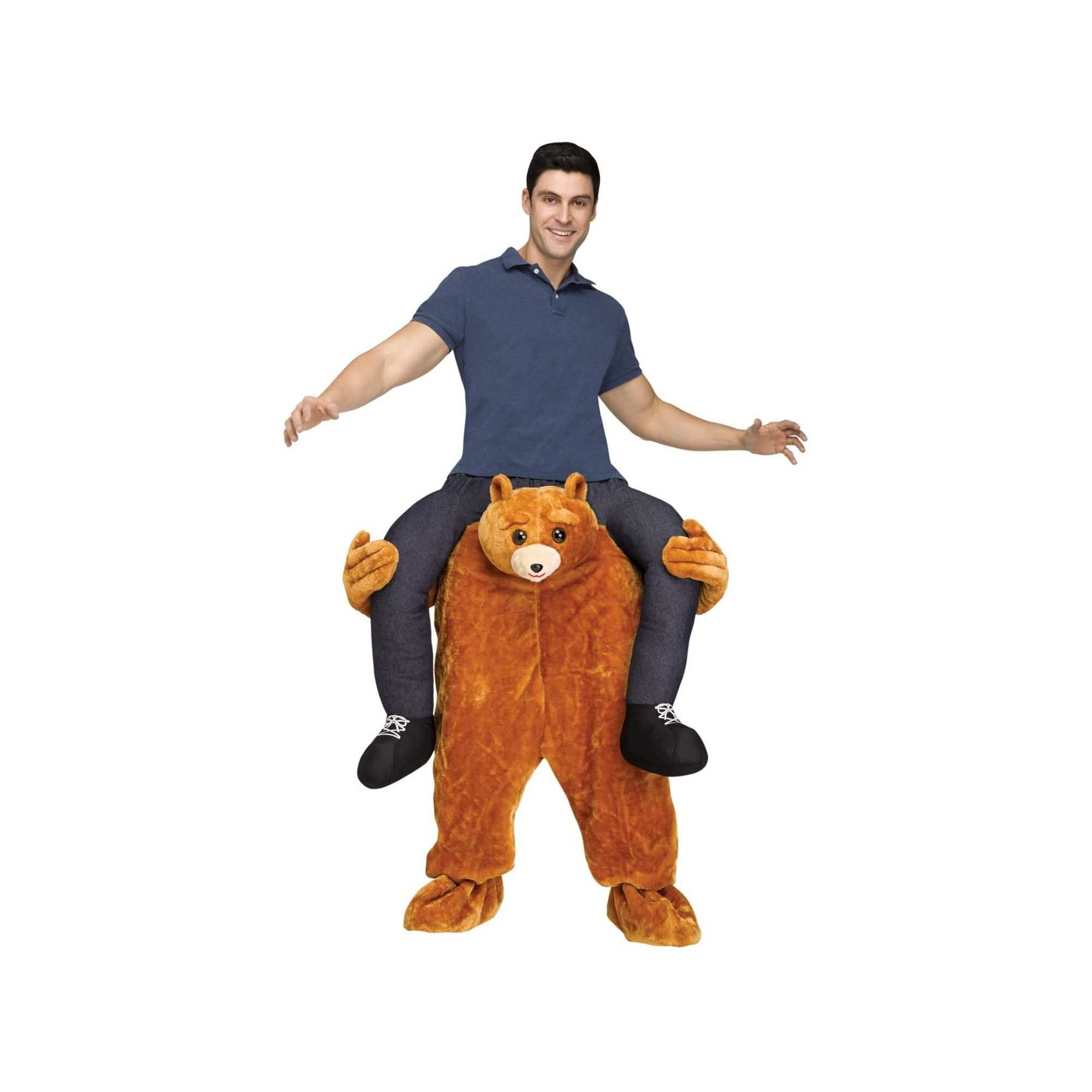 Halloween Teddy Bear Riding On Shoulder Adult Costume