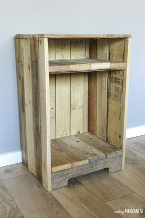 Photo of Pallet wood side table with rustic style – Manufacture of Manzanita Pale …