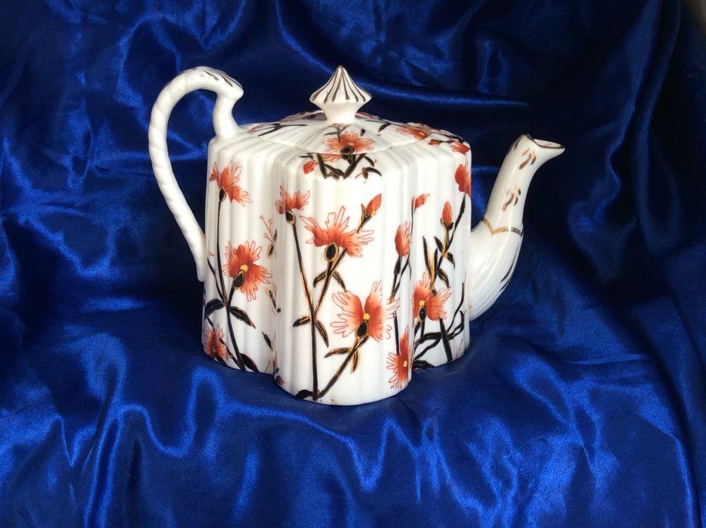 Stunning WILEMAN Shelley Cornflower TEAPOT pattern 3730 Alexandra shape, Ex.Cond