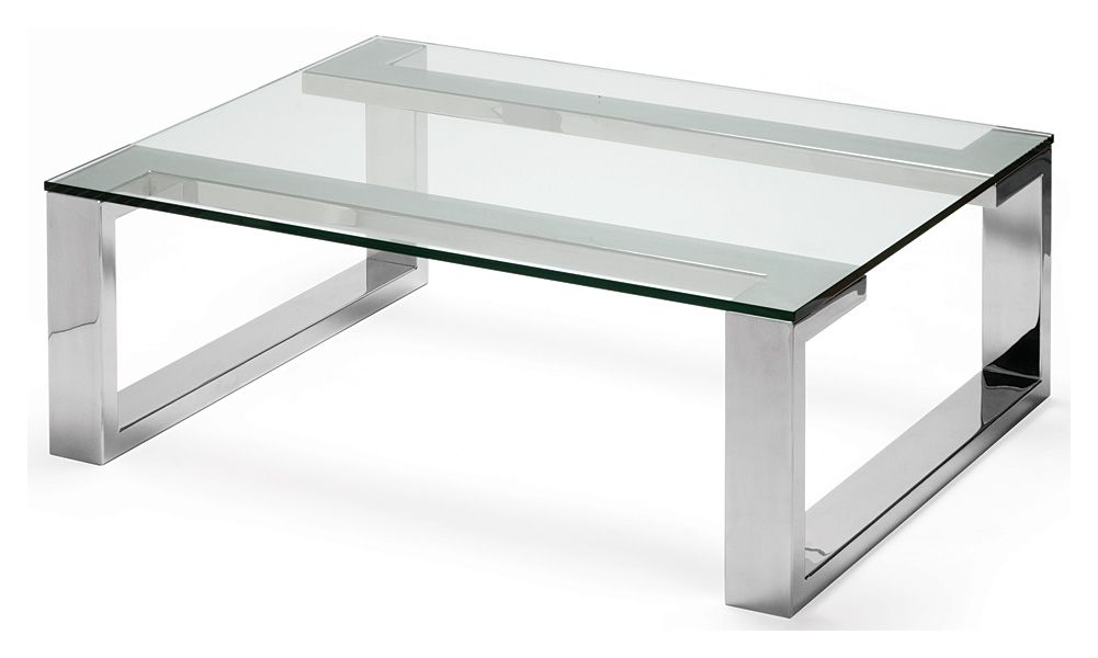 arissa coffee table polished stainless steel with glass top 1200 x