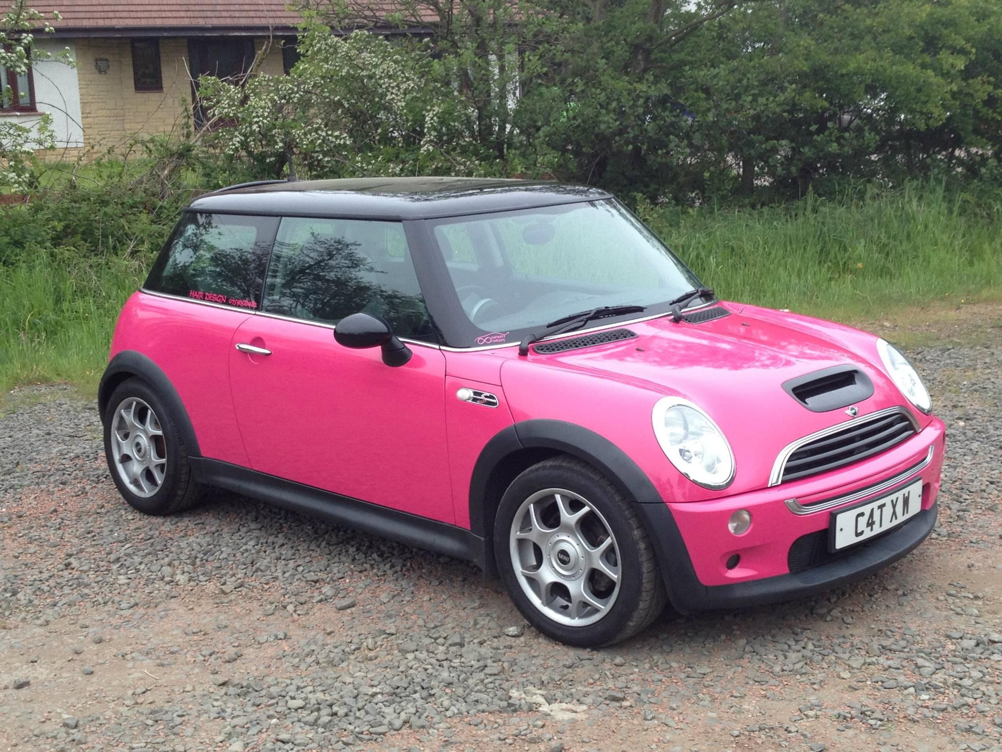 Hot Pink Mini Cooper Vehicle Wring Services
