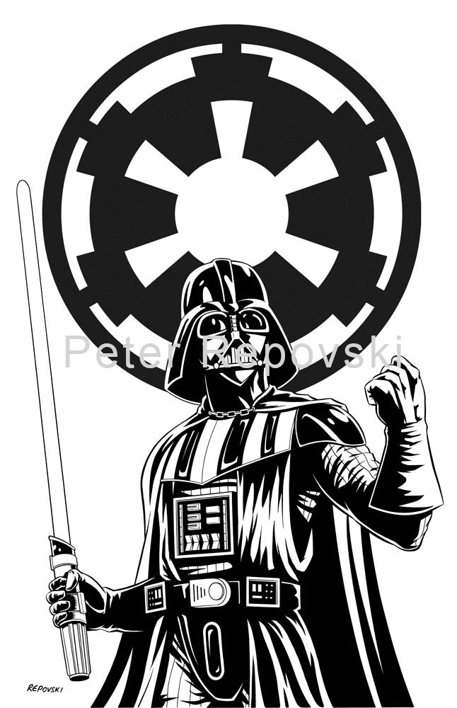 Darth vader imperial 646 1000 star wars pinterest for Darth vader black and white