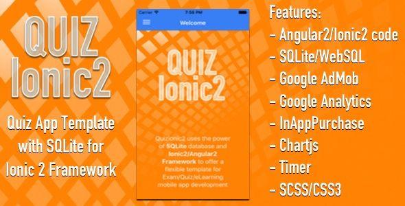 Quizionic2 - Ionic2 App template w SQLite, AdMob, In-App-Purchase