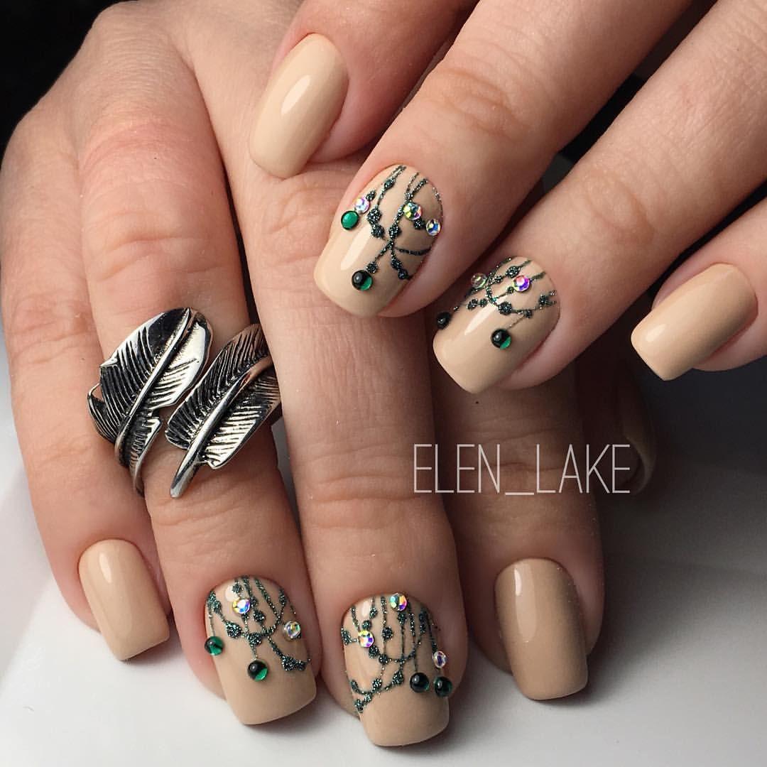 Beige Nail Art, Elegant Nails, Beige Nails