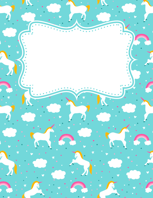 Diy Unicorn Book Cover : Pin by muse printables on binder covers at bindercovers