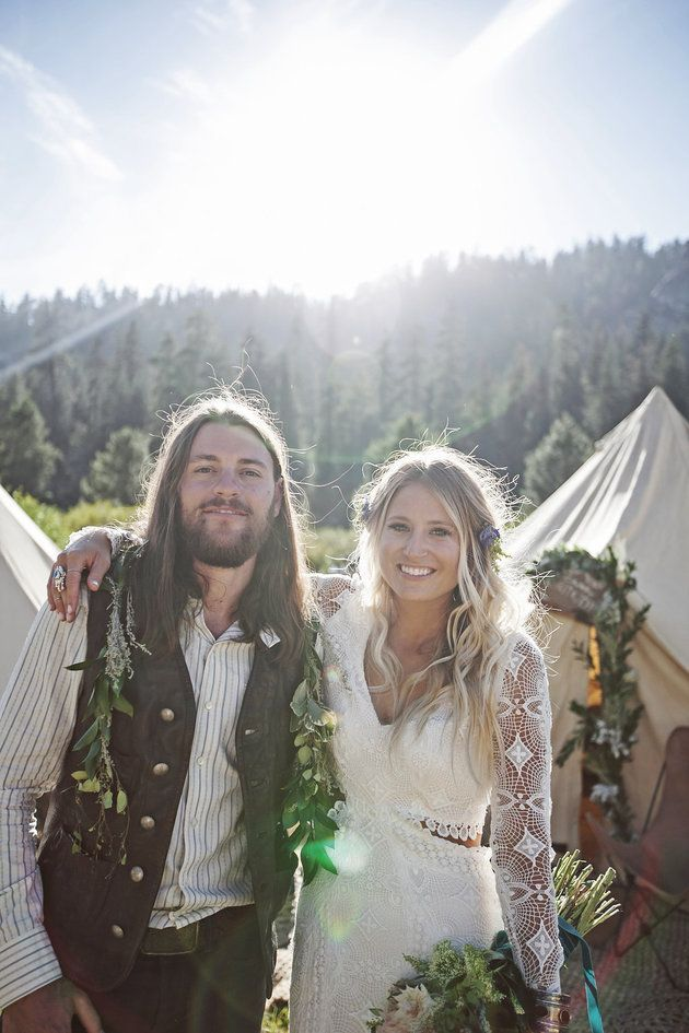 This Rad Couple Had A Music Festival Wedding In The Middle ...