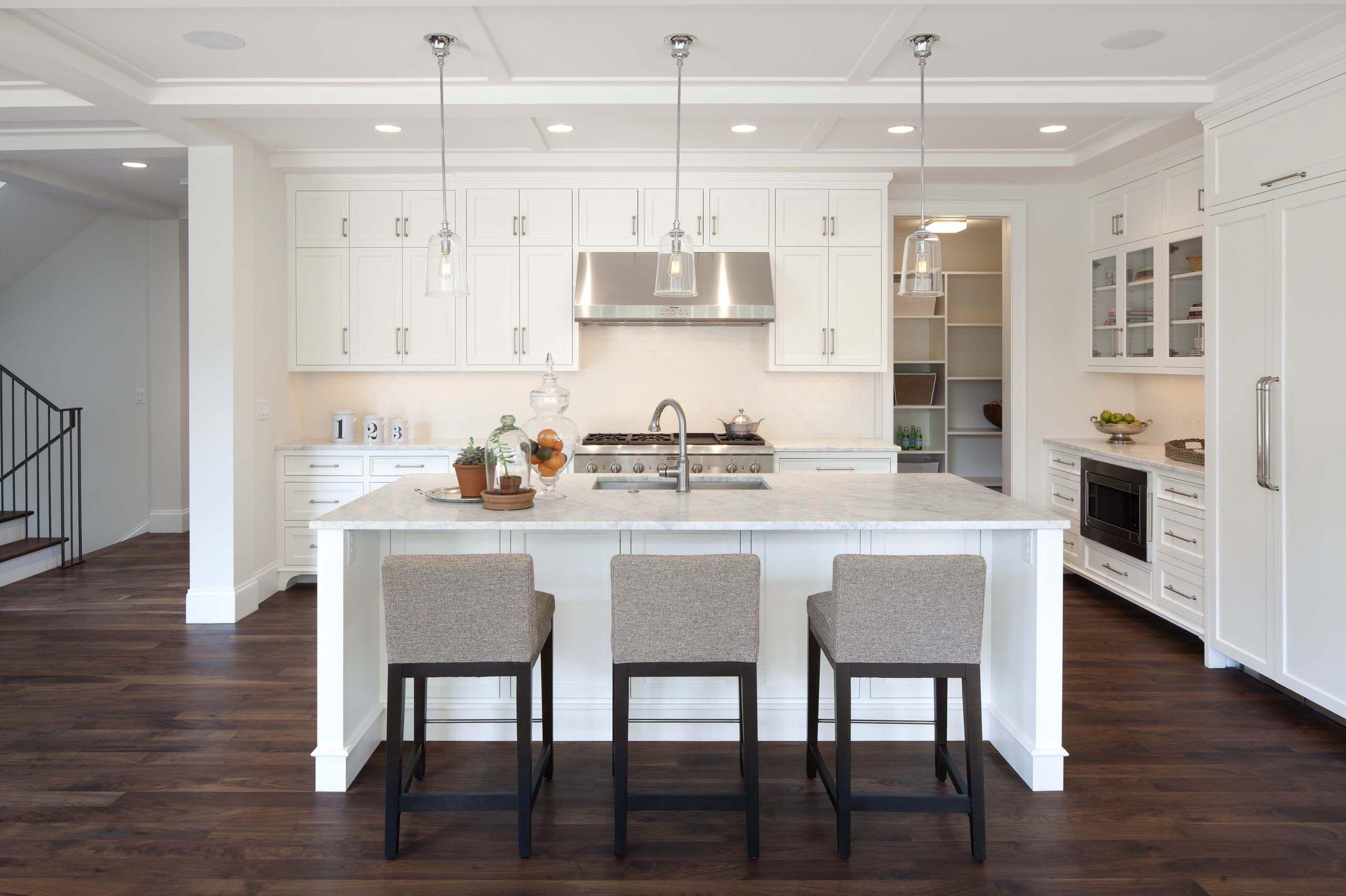 Weiße Küche Bar Hocker | Küche | Pinterest | Marble countertops ...
