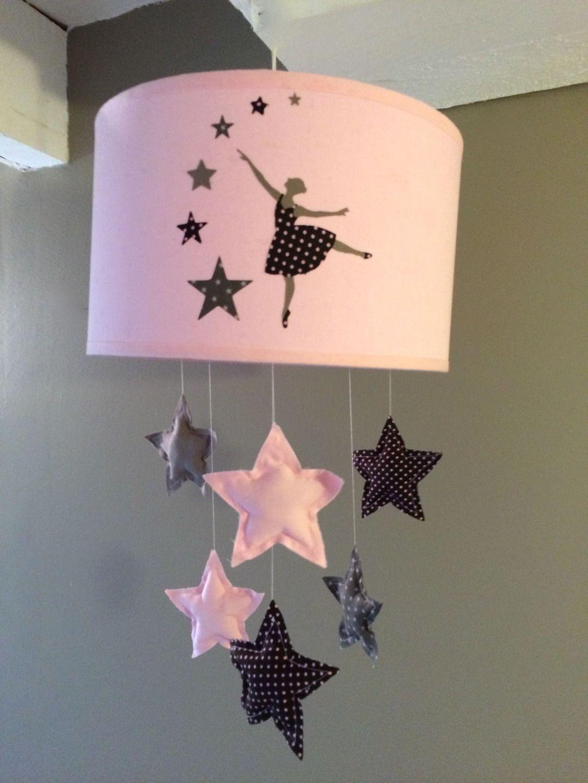 abat jour chambre fille ABAT JOUR ORIGINAL LAMPE ENFANT DANSEUSE ETOILES : Décoration pour enfants  par plume-de-fee