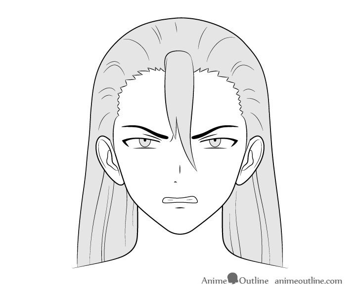 How To Draw Male Anime Characters Step By Step Animeoutline In 2020 Guy Drawing Anime Face Drawing Angry Anime Face