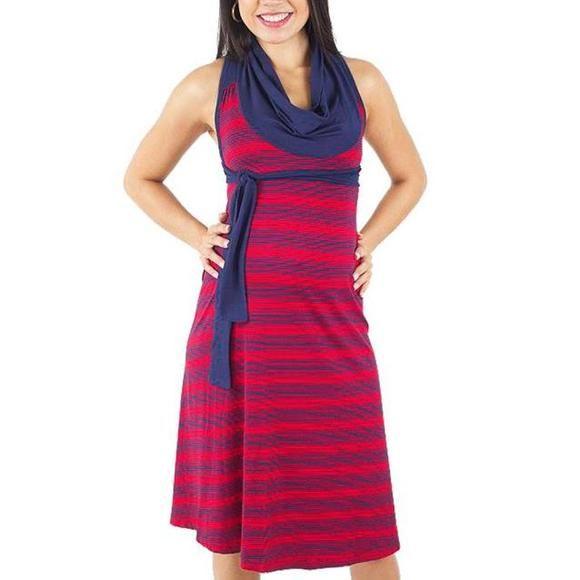 fe5974bc65d267 Vestido Gestante Due Vita Curto | Gestantes | High Neck Dress ...