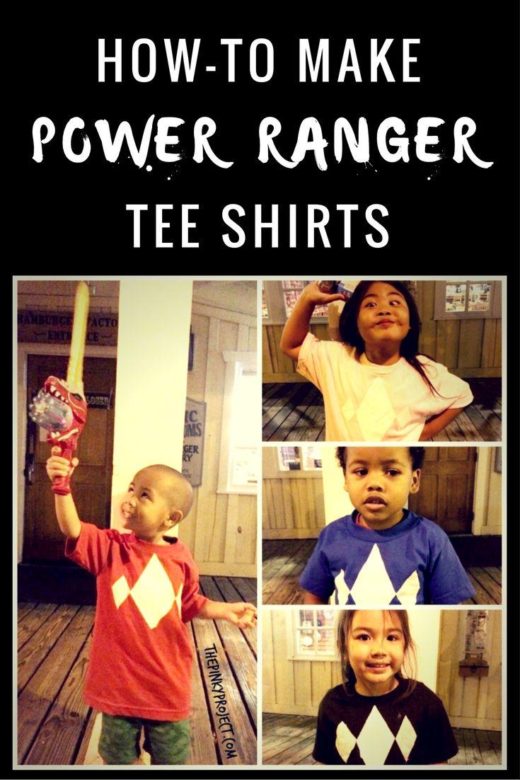 DIY Power Ranger Tee Shirts | Power Rangers Birthday | Pinterest ...