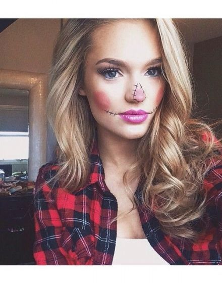5 DIY Halloween Costumes Anyone Can Wear Scarecrow makeup, DIY - cute makeup ideas for halloween