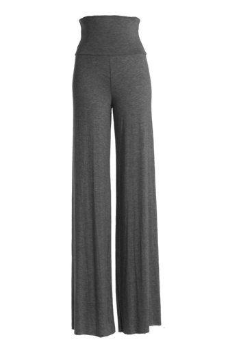 VIV Collection Women's Solid Wide Leg Palazzo Soho Gaucho Pants (Small, Heather Charcoal) VIV Collection http://www.amazon.com/dp/B00I3NPT70/ref=cm_sw_r_pi_dp_lZTewb0VA4AAP