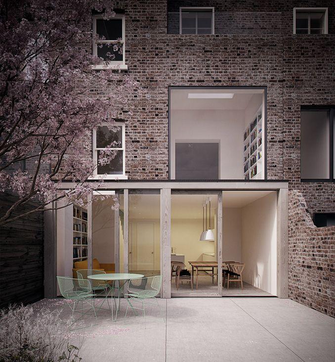 Denbigh Road Phase II - Damian Howkins Architects Fachadas simples - plan d une maison simple
