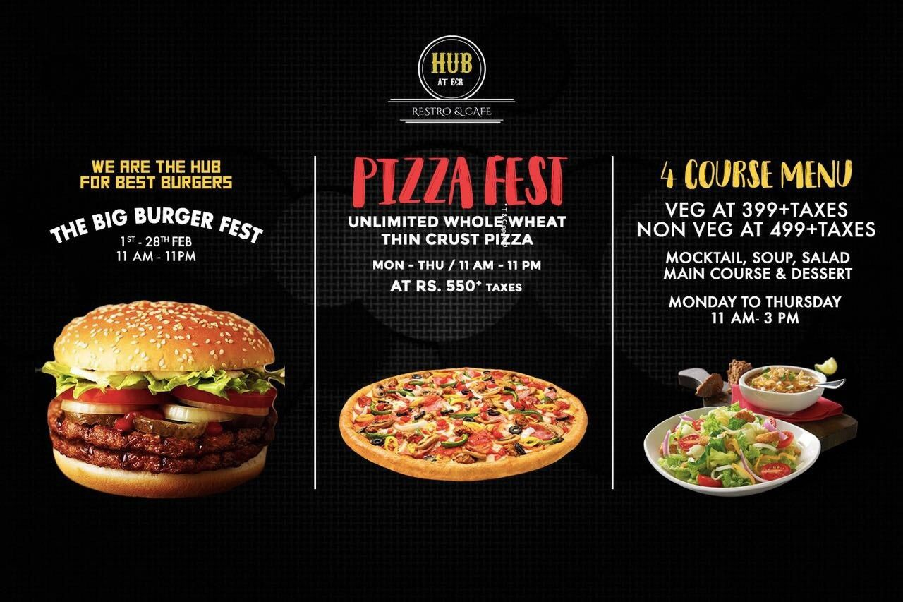 Pin By Hub At Ecr On Hubatecr With Images Thin Crust Pizza Big Burgers Main Course