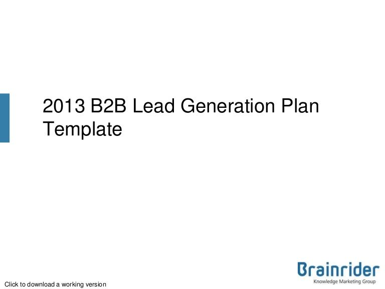 BB Marketing Plan Template Free To Download By Brainrider