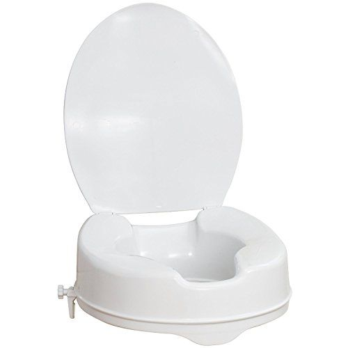 6 Raised Toilet Seat With Lid