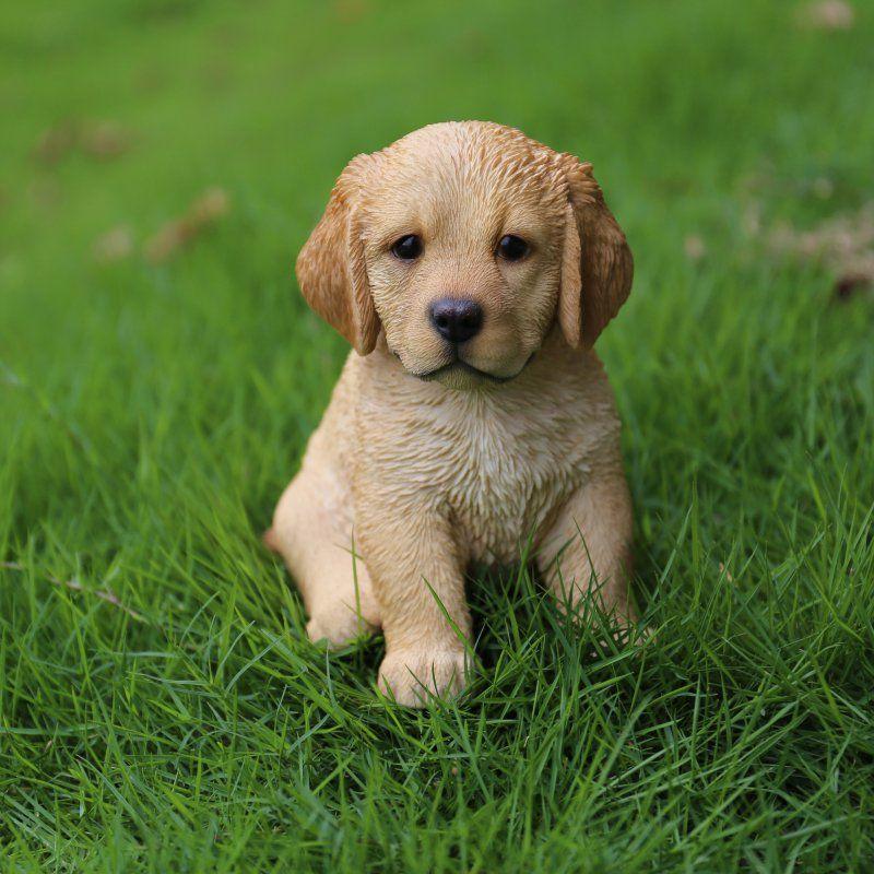 HiLine Gift Ltd. Sitting Golden Retriever Puppy Statue