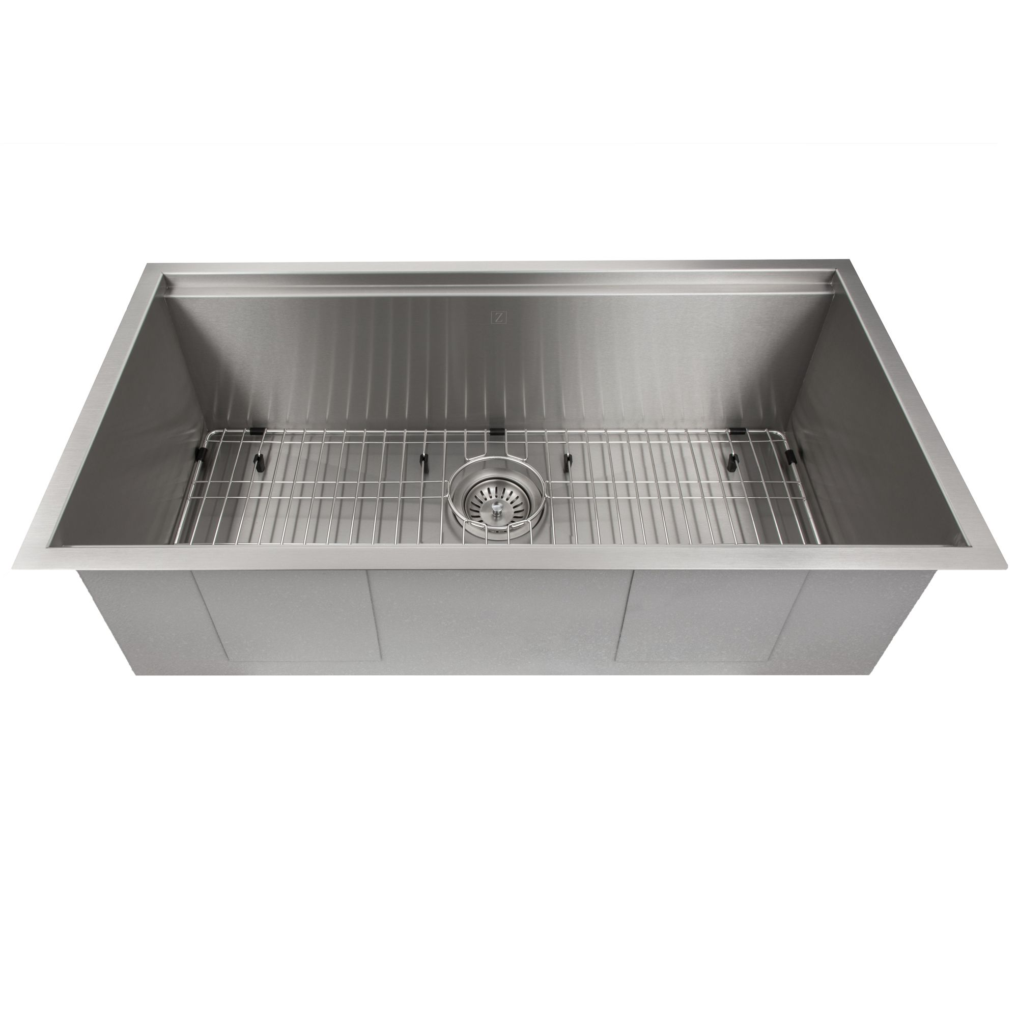 Zline Designer Series 33 Inch Undermount Single Bowl Ledge Sink In Stainless Steel With Accessories Sls 33 Sink Stainless Steel Range Hood Stainless Steel