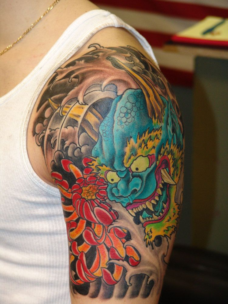 Oni Mask Tattoo: Japanese Tattoo Designs, Japanese Tattoo, Oni