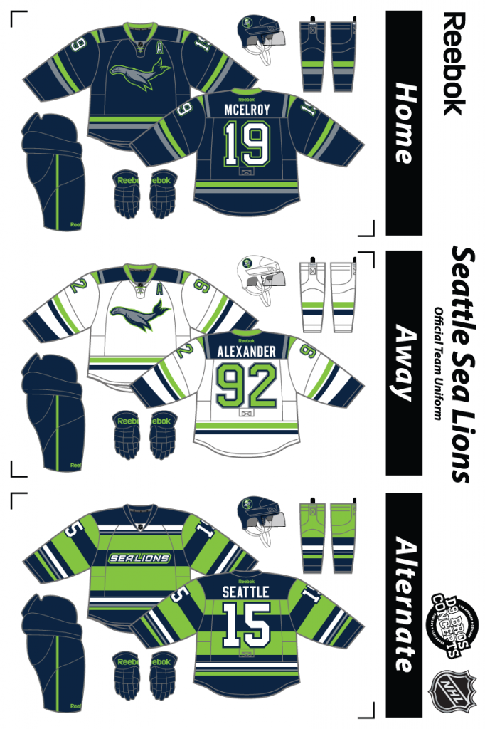 Do We Really Want To Name Our Future Hockey Team The Seattle Sea Lions Nhl Hockey Logos Ice Hockey Jersey