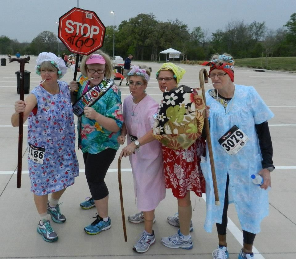 Find this Pin and more on Pajama Run Costume Ideas. Old Lady Runners - Team-Picture-.jpg (960×839) Pajama Run Costume Ideas Pinterest