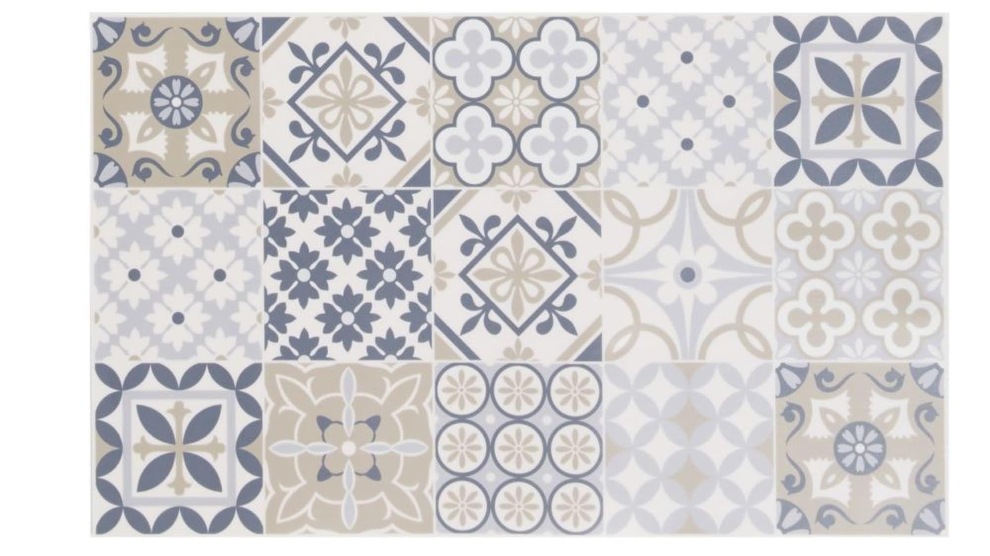 Tapis En Vinyle Motifs Carreaux De Ciment Multicolores 50x80 Lisboa Maisons Du Monde Carreau De Ciment Tapis