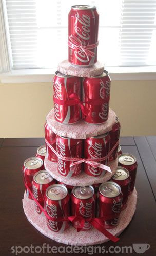 Coke can birthday cake