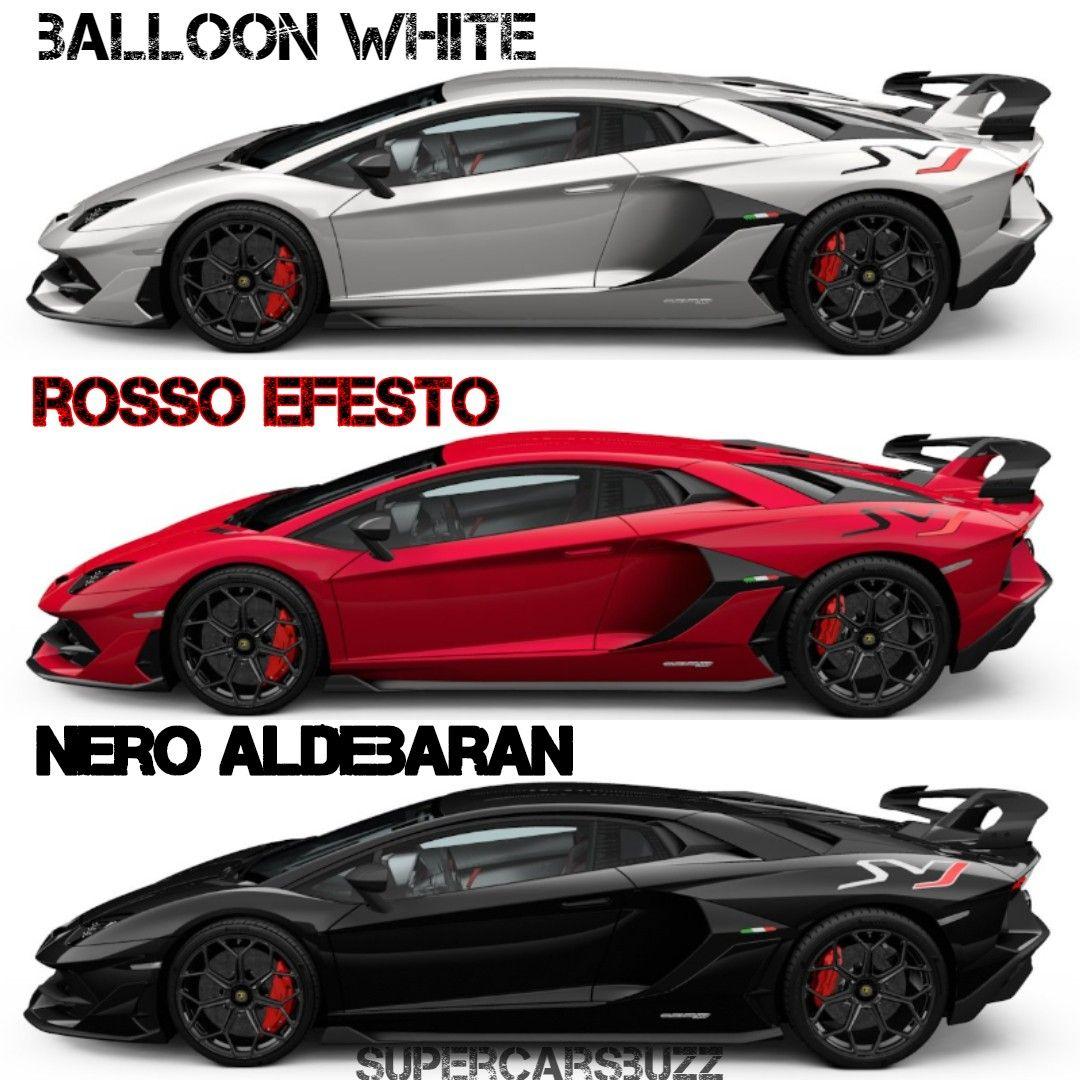 White Red Or Black Lamborghini Aventador Svj Follow