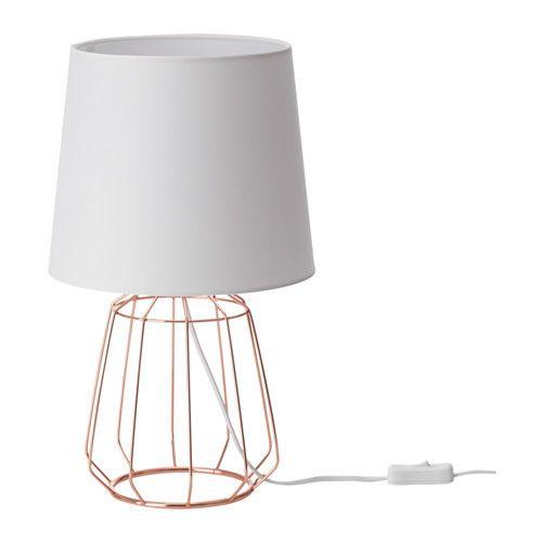 Anortit Lampada Da Tavolo Ikea Il Paralume In Tessuto Crea Una Luce
